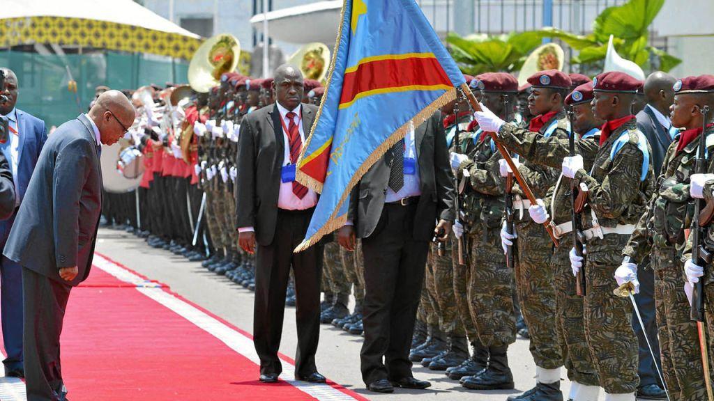 Jacob Zuma à Kinshasa le 15 octobre