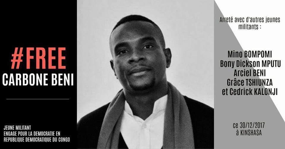 """Carbone Beni """"dans un état critique"""": des voix s'élèvent pour exiger sa libération"""