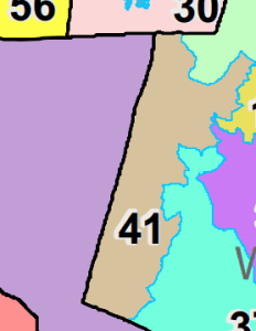 Map of North Carolina House District 41, currently occupied by Rep. Tom Murry (R-Morrisville).