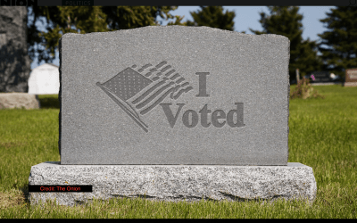 Just dying to vote