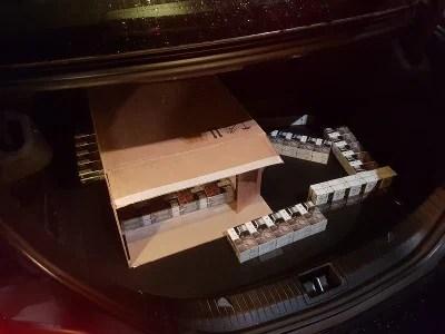 sigaretten in kofferbak