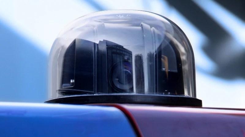 Camera op politieauto