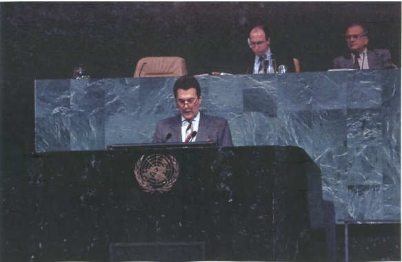 Ομιλία στην έδρα του Οργανισμού Ηνωμένων Εθνών (Ο.Η.Ε) στην Νέα Υόρκη
