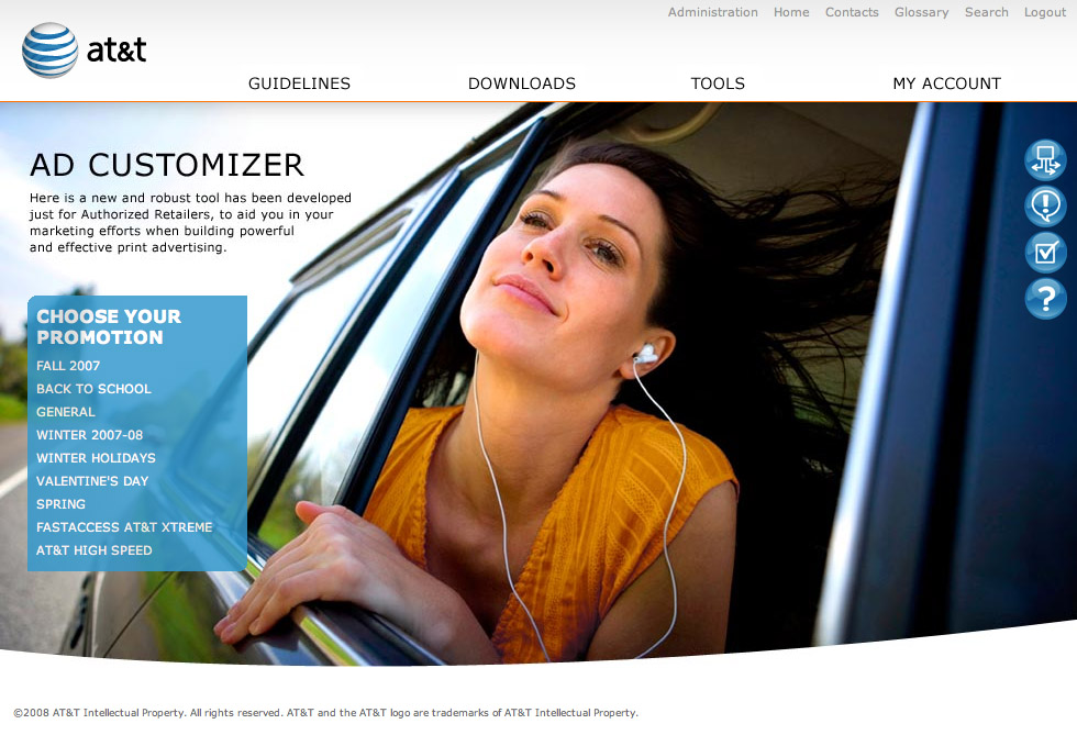 Landing page for the Ad Customizer