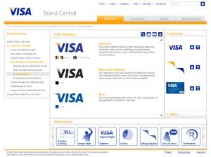 Sample guidelines for Visa Brand Central