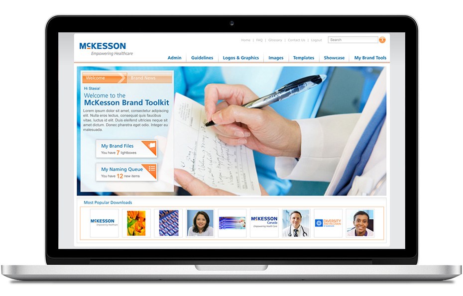 Laptop computer with McKesson Brand Toolkit