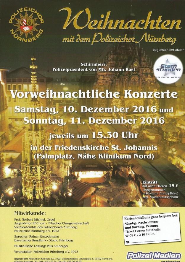 Weihnachtskonzerte des Polizeichors Nürnberg