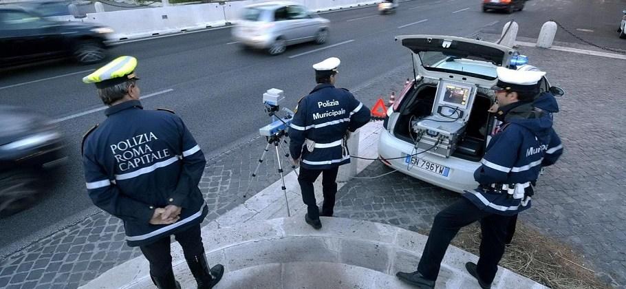 """Roma, operazione """"Andate piano"""" promossa dalla Polizia della capitale"""