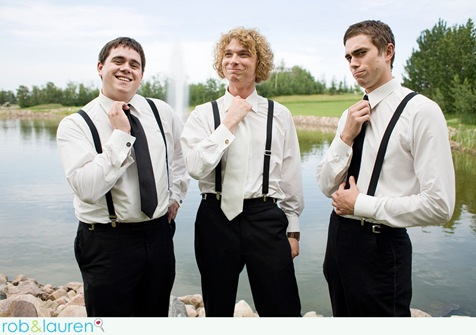 Pimp your ushers with braces and monochromatic ties.