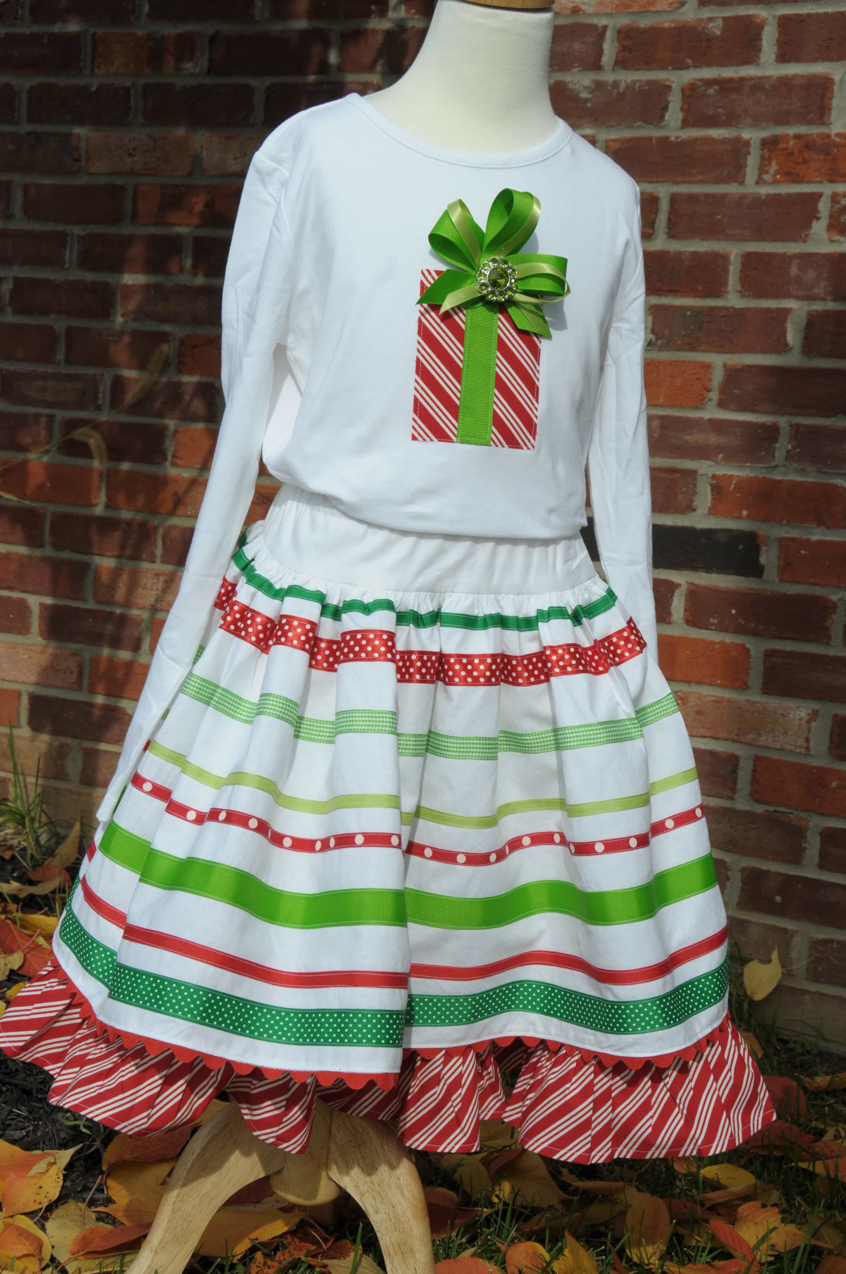 Ribbon Skirt Sewing Tutorial Embellished T Shirt Tutorial