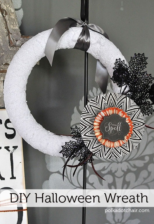 diy halloween wreath ps itu0027s