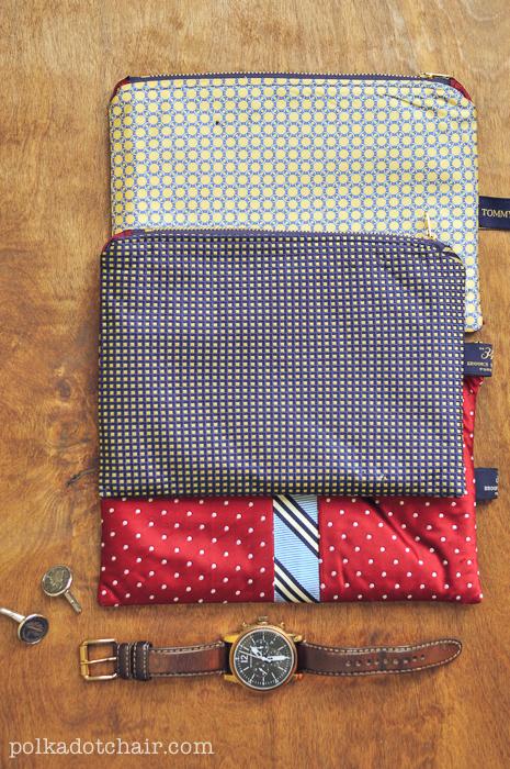 DIY Gifts For Men Necktie Zip Pouches