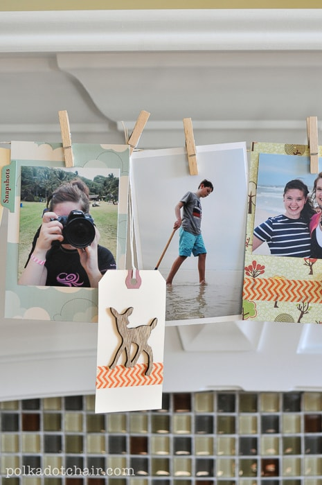 Family Memory Banner A Thanksgiving Craft Idea The Polka