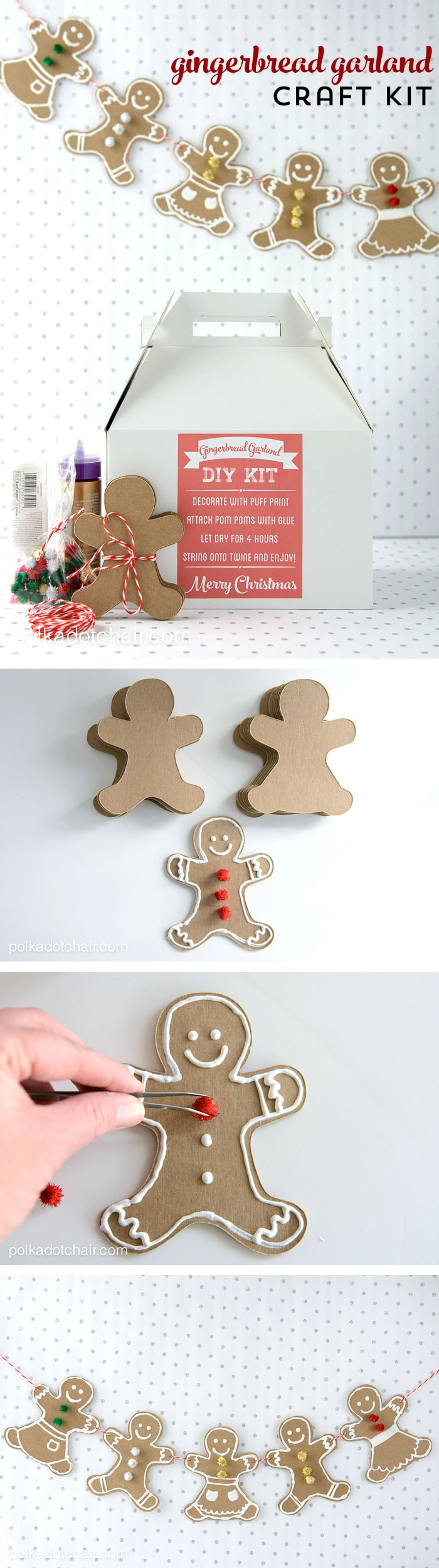 DIY Gingerbread Man Craft Kit For Christmas