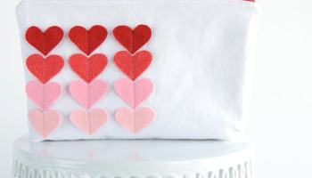 sweetheart zip pouch valentines day sewing projects - Cute Things For Valentines Day