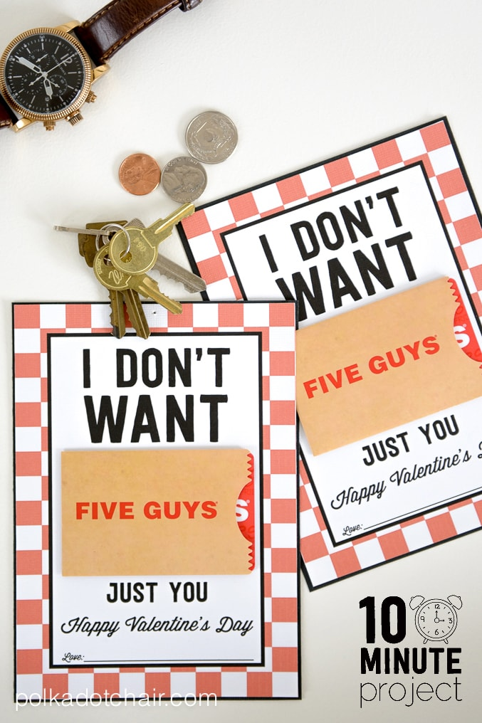Valentine Gifts For Him A Free Printable Gift Card Holder
