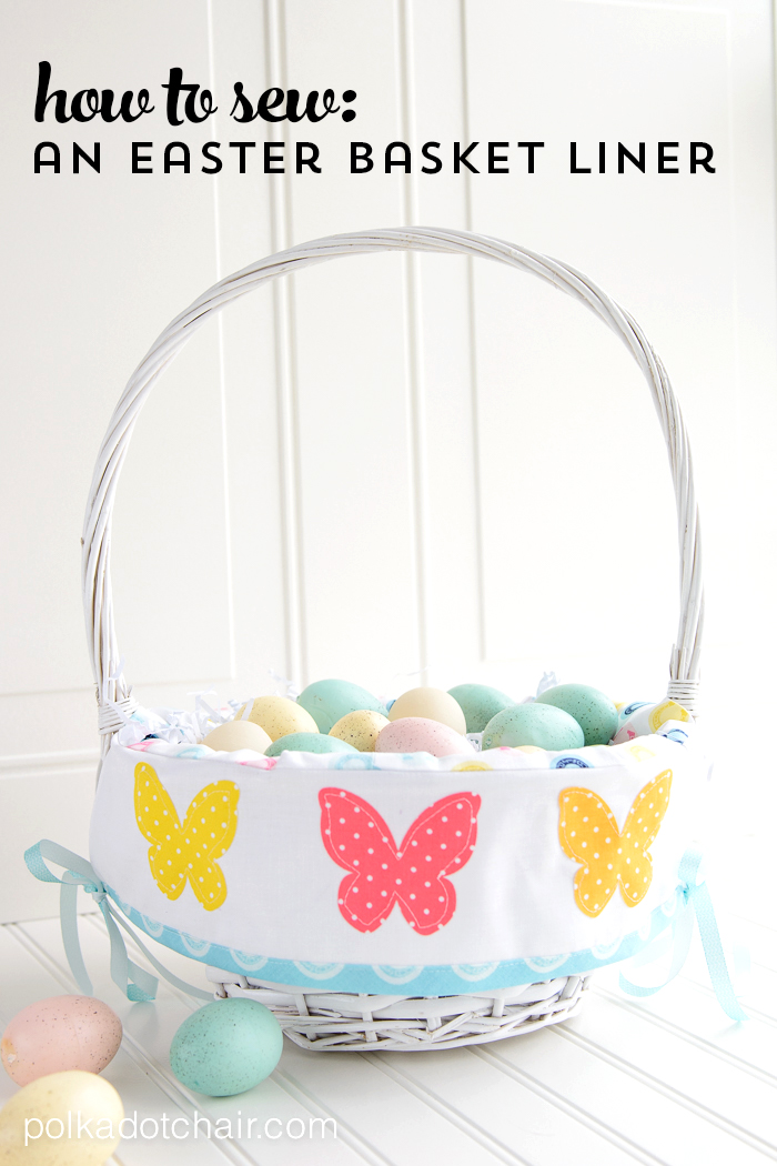 Easter Basket Liner Pattern On Polka Dot Chair Sewing Blog