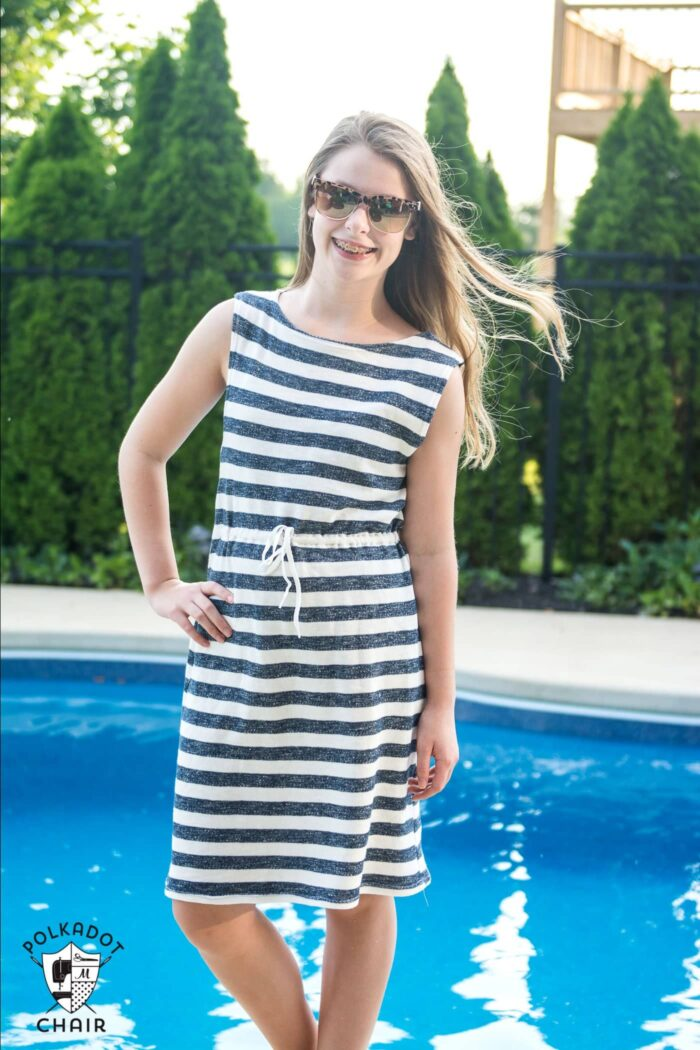 Super Simple Swimsuit Cover Up Sewing Tutorial The Polka