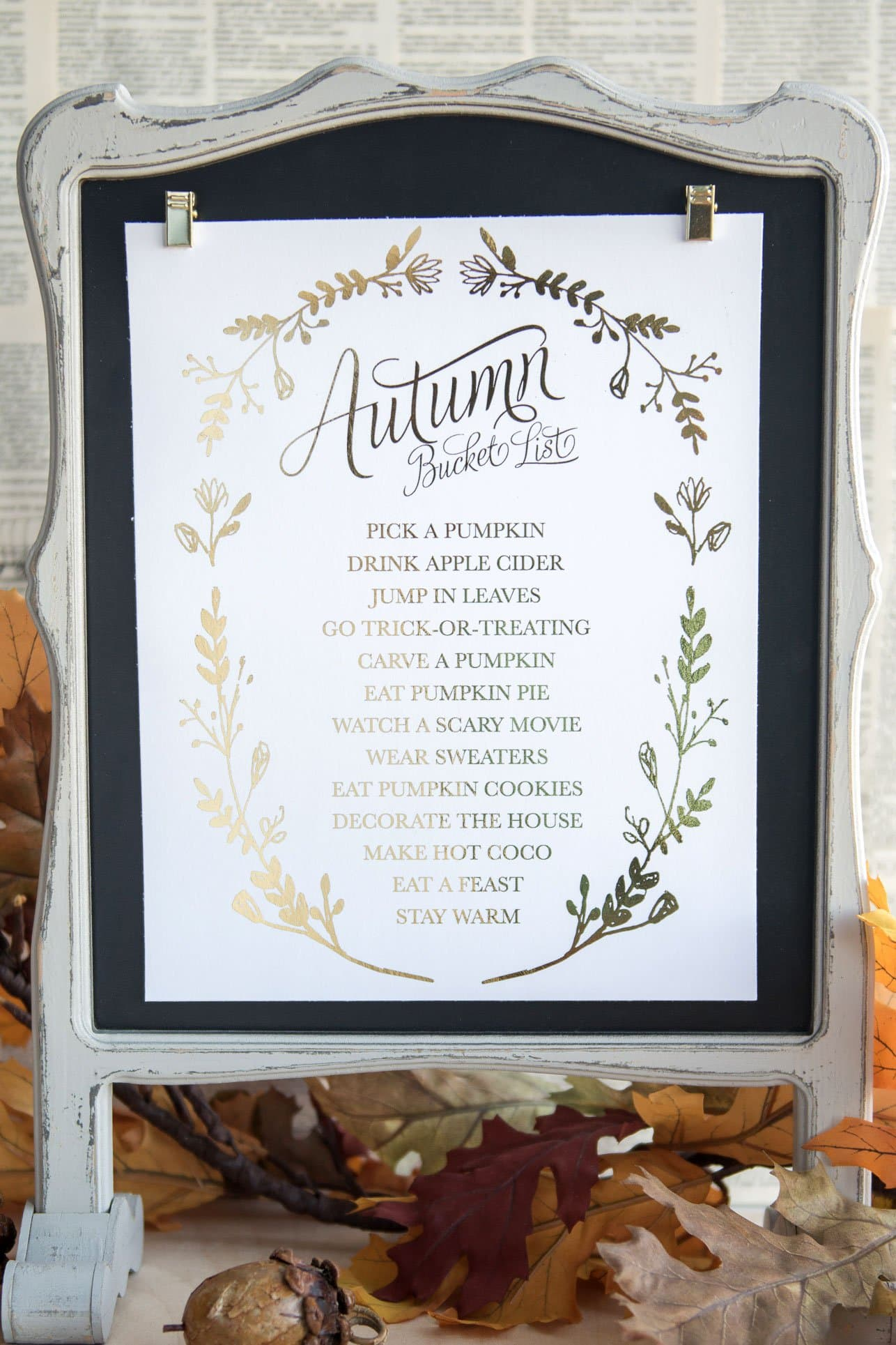 Free Printable Fall Bucket List Fun Things To Do In The Fall