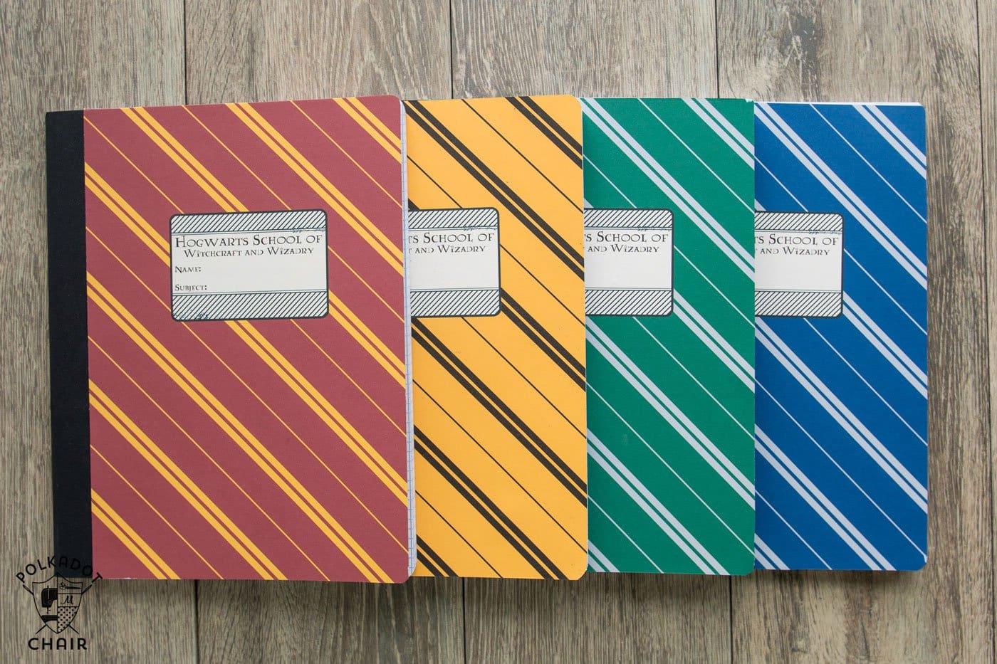 Diy Hogwarts Inspired House Notebooks Harry Potter Craft Idea