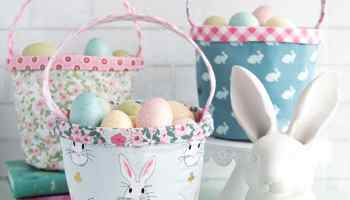 40 easter sewing projects ideas the polka dot chair easter basket sewing pattern negle Images