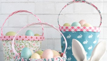 40 easter sewing projects ideas the polka dot chair easter basket sewing pattern negle Choice Image