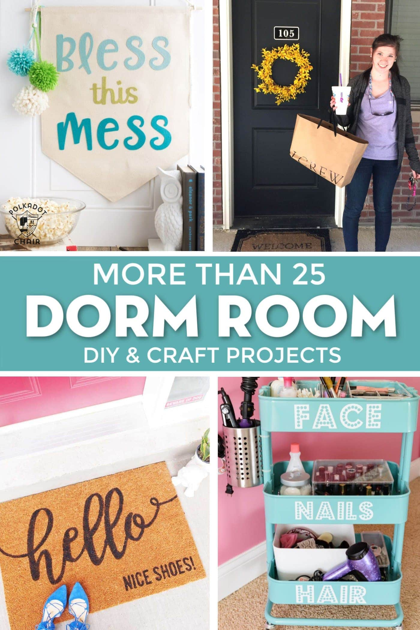 25 Cricut Diy Projects For The Best Dorm Room Decor The Polka Dot Chair