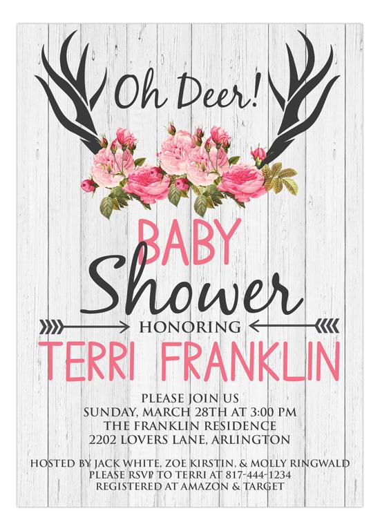 Oh Deer Baby Shower Invitations Cute Gender Reveal Ideas