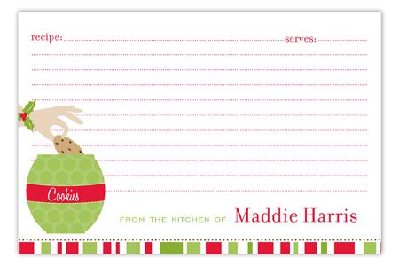 Christmas Cookie Jar Recipe Card