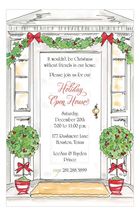 Holiday Open House Invitation Templates | ctsfashion.com