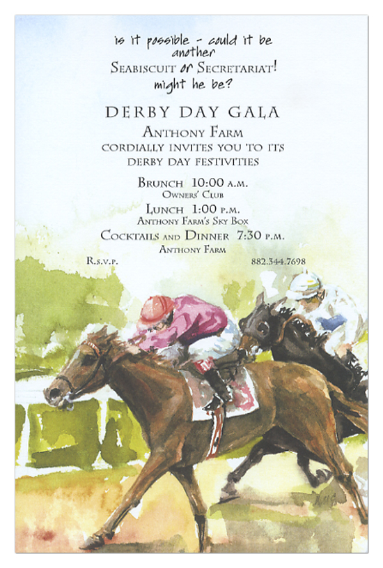 1st And 2nd Horse Race Invitation