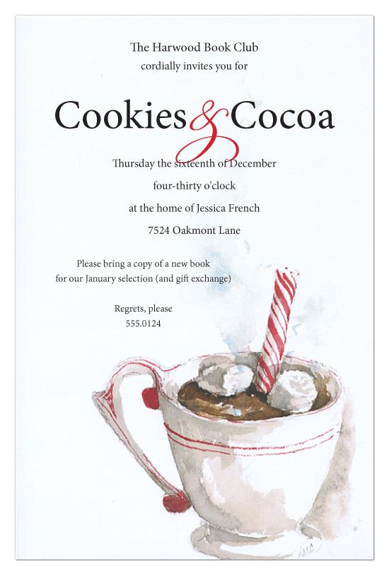 Odd Balls Hot Chocolate Christmas Invitation Christmas
