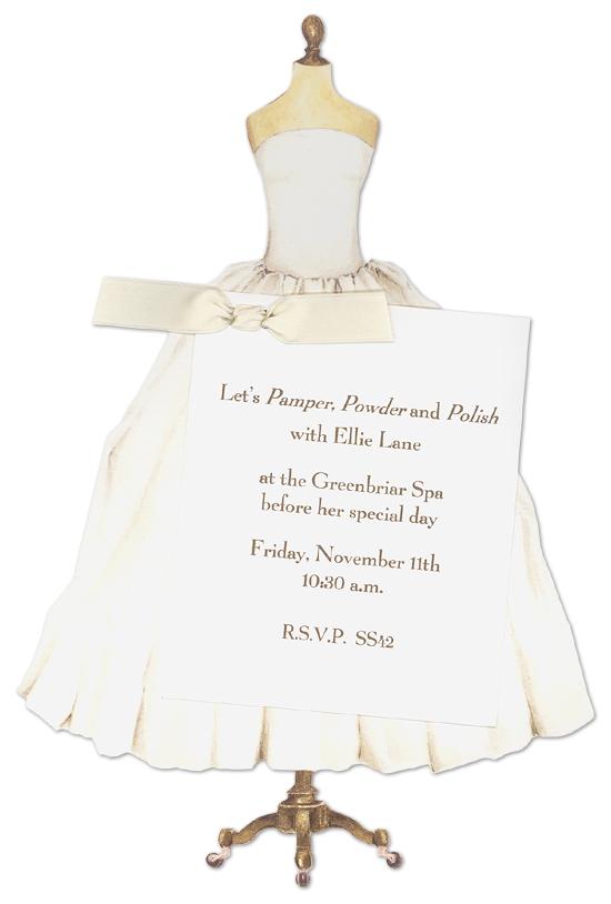 Wedding Dress Bridal Invitations
