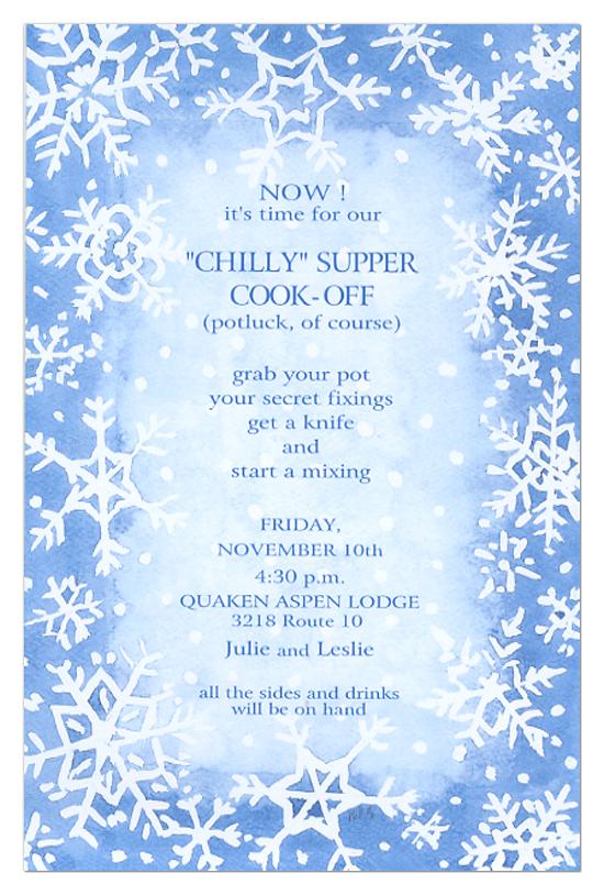 White Snow Invitation