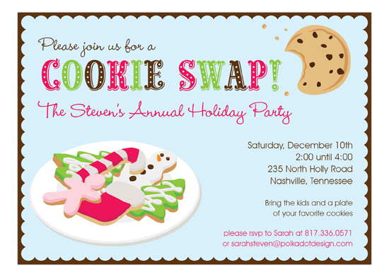 Yummy Cookie Swap Invitation Cookie Swap Party Ideas