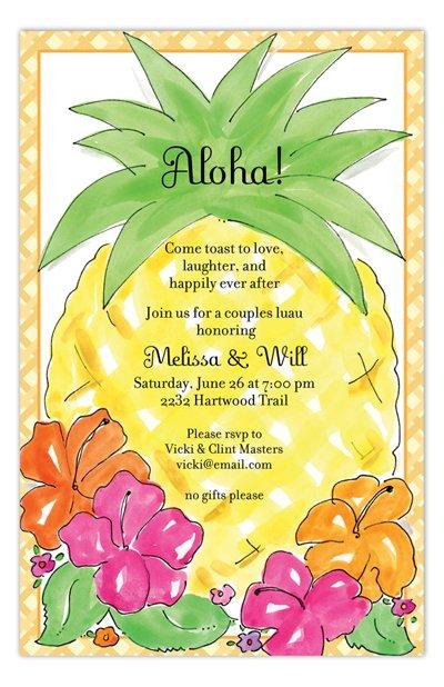 Hawaiian Luau Invitations Template