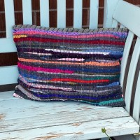 Rag Rug Pillow DIY