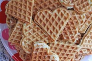 polka dots and picket fences | waffle bar