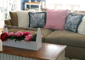 living room refresh | polka dots and picket fences