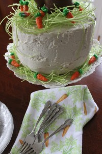 four-layer vanilla bunny cake | polka dots and picket fences