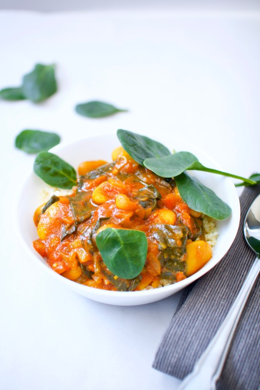 butter bean and spinach curry