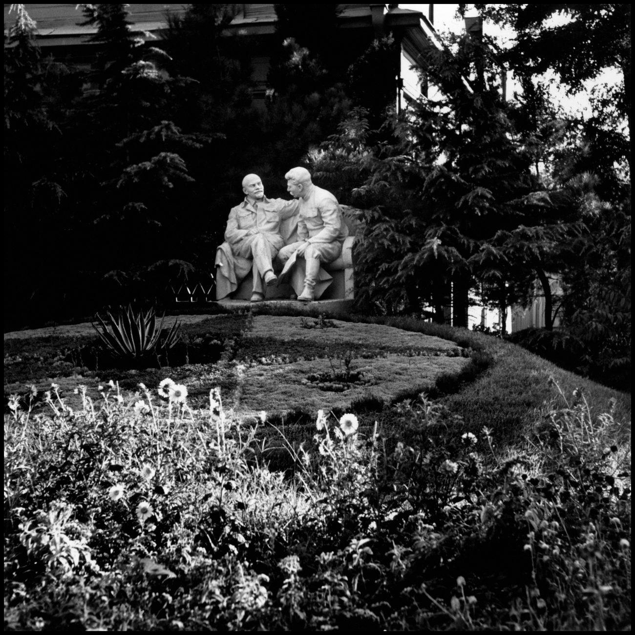 Sculpture de Lénine et Staline, URSS, 1947.