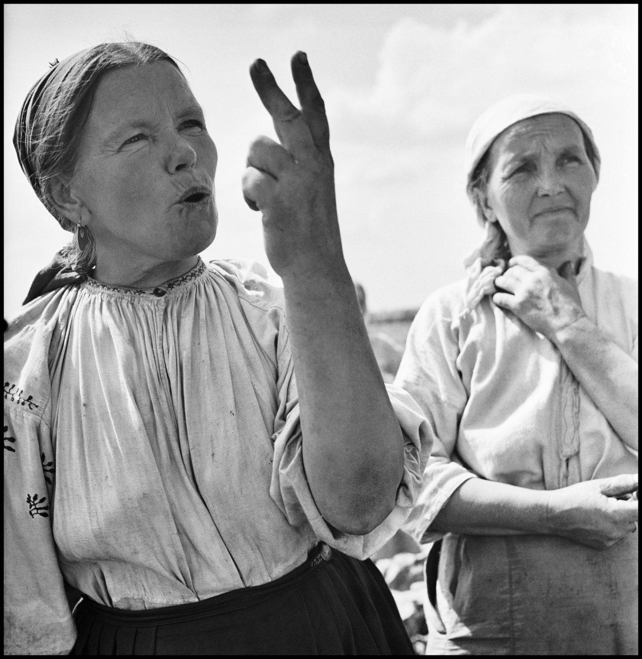 Ferme collective, Ukraine, URSS, 1947.