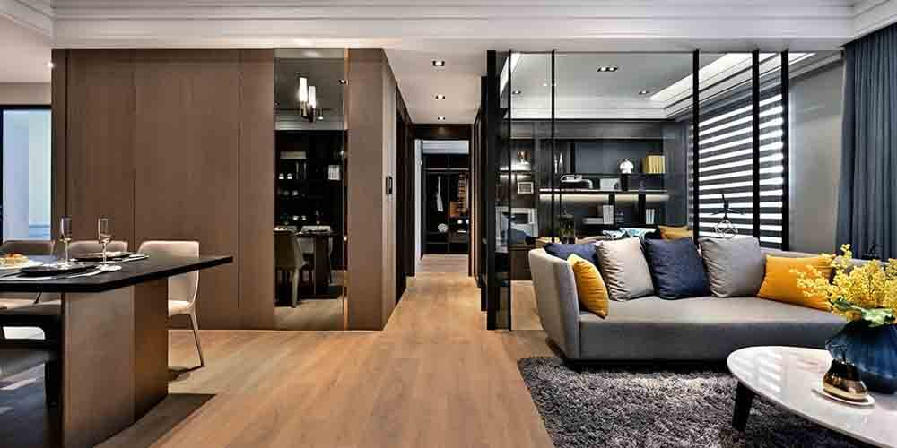 「坤悅雅樂」三房主打高規格、高坪效,創造出媲美精品飯店的生活空間。