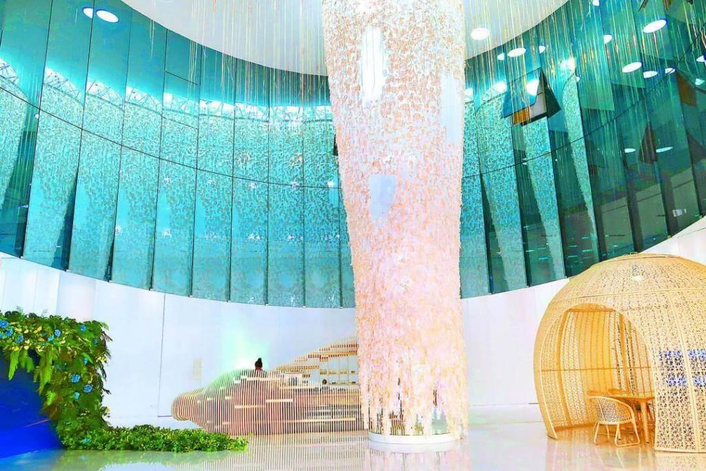 「精銳Garden One」在精銳建設總公司銷售,公司內部裝潢相當有特色。