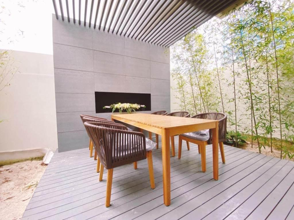 翔禾藏媺戶戶留有後院空間,可設計休憩桌椅