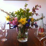 handmade Easter flower displays