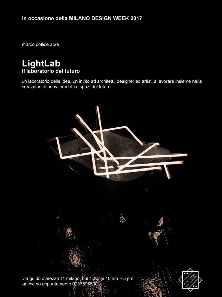 MILANO DESIGN WEEK 2017 marco pollice apre LightLab il laboratorio del futuro