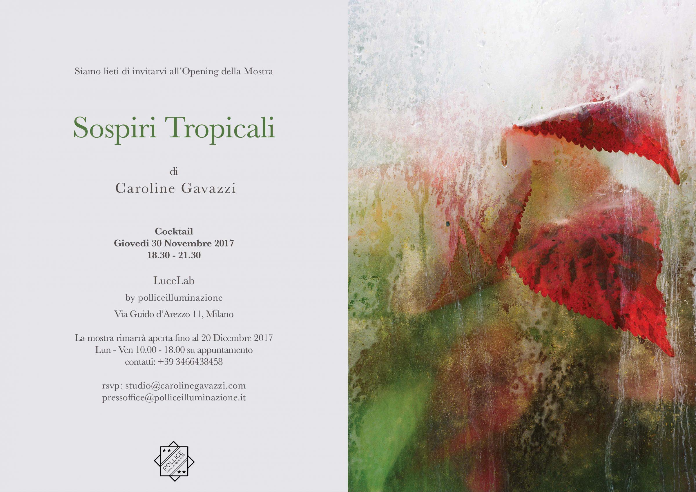 "LuceLab by Pollice Illuminazione presenta ""Sospiri Tropicali"" di Caroline Gavazzi"