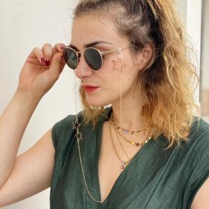 Catenina per occhiali con stelle